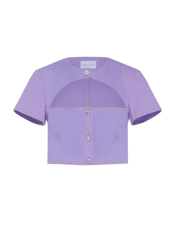 SOMEBODYS BABY TOP, LAVENDER