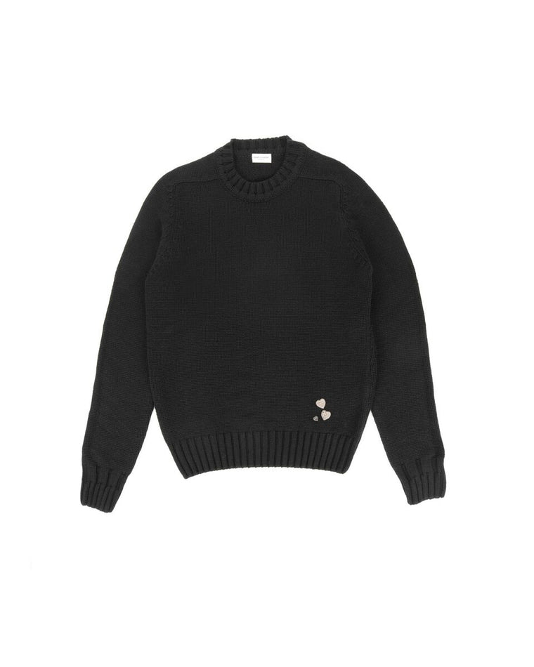 Saint Laurent Heart-pin Cashmere Sweater