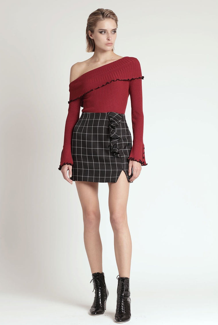 ELEANOR SKIRT, PLAID