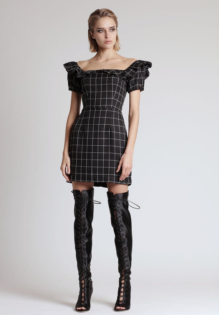 LYDIA DRESS, PLAID