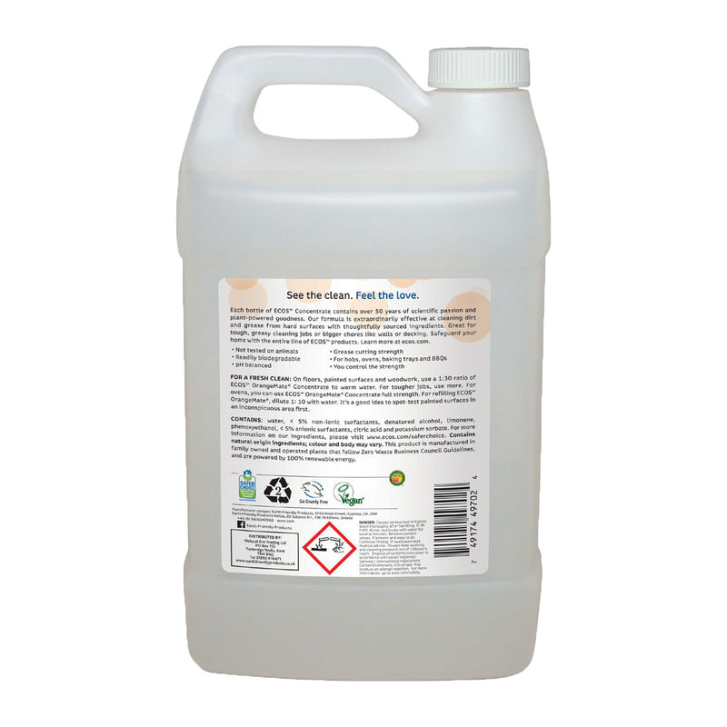 Earth Friendly Products ECOS Orange Mate Concentrate Cleaner Bulk back