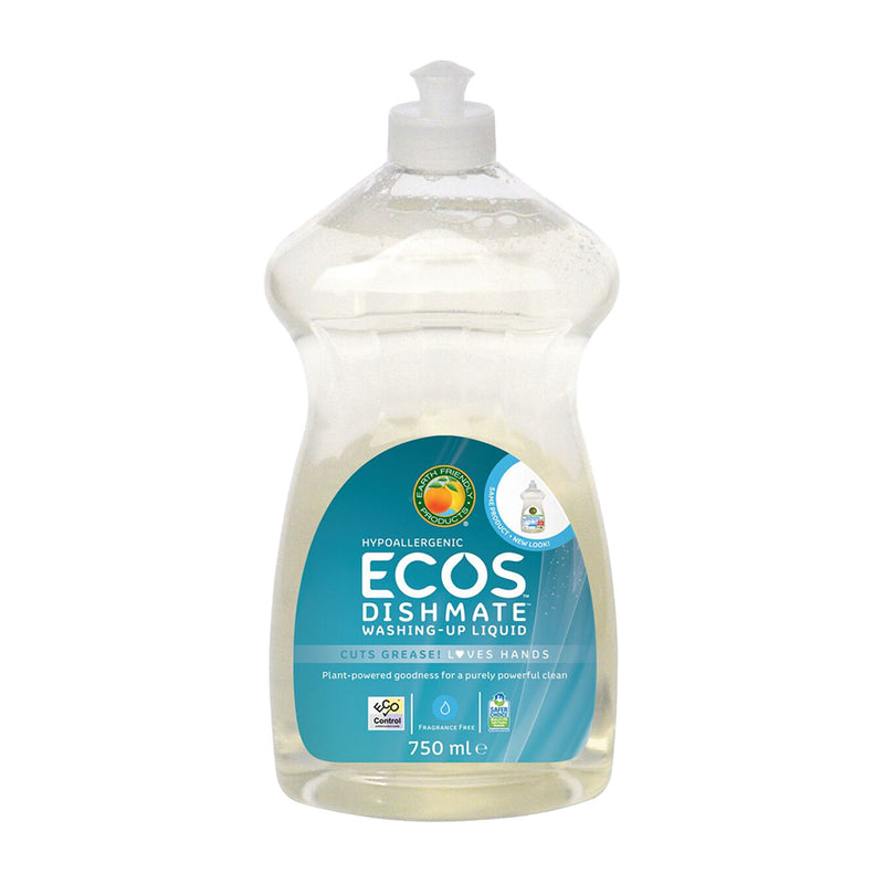 ECOS Dishmate Fragrance Free - Vegan approved washing-up liquid