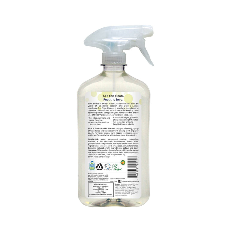 Earth Friendly Products ECOS Floor Cleaner back
