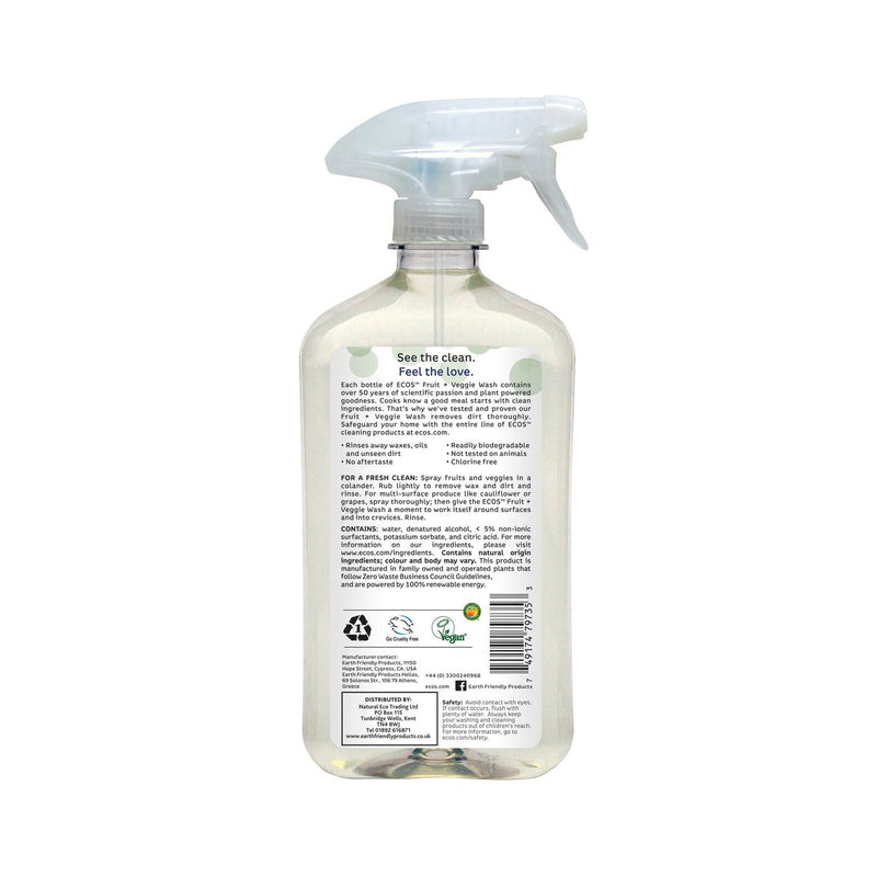 Earth Friendly Products ECOS Fruit and Veggie Wash back