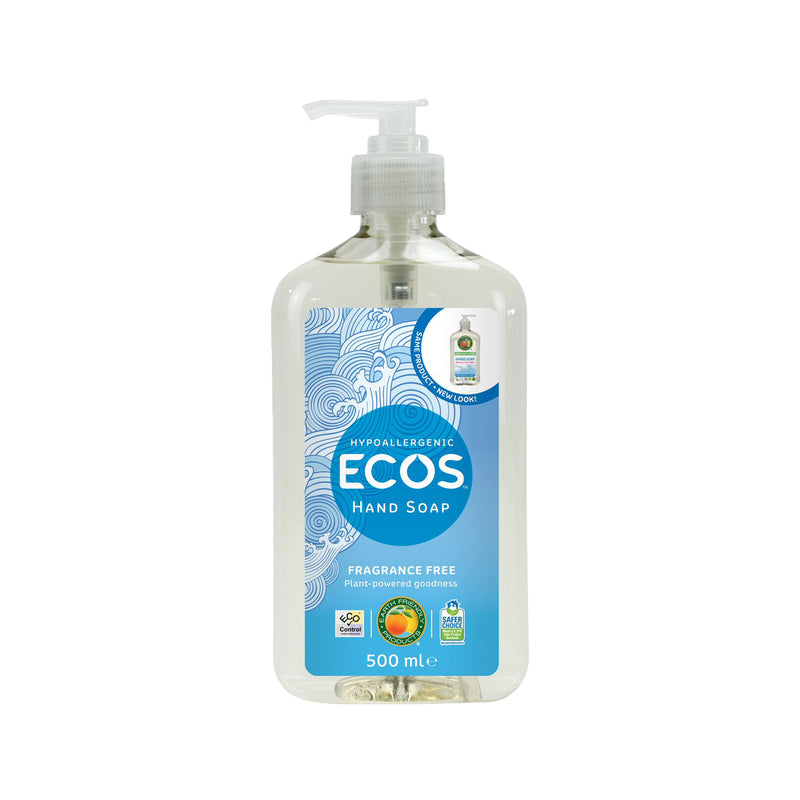 ECOS fragrance free vegan hand soap