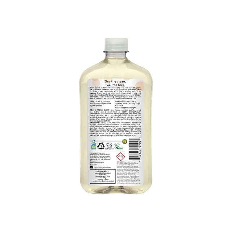 Earth Friendly Products ECOS Orange Mate Concentrate Cleaner back