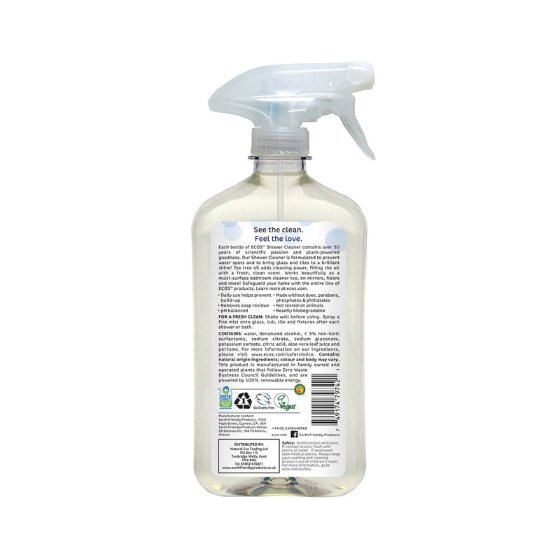 Earth Friendly Products ECOS Shower Cleaner back
