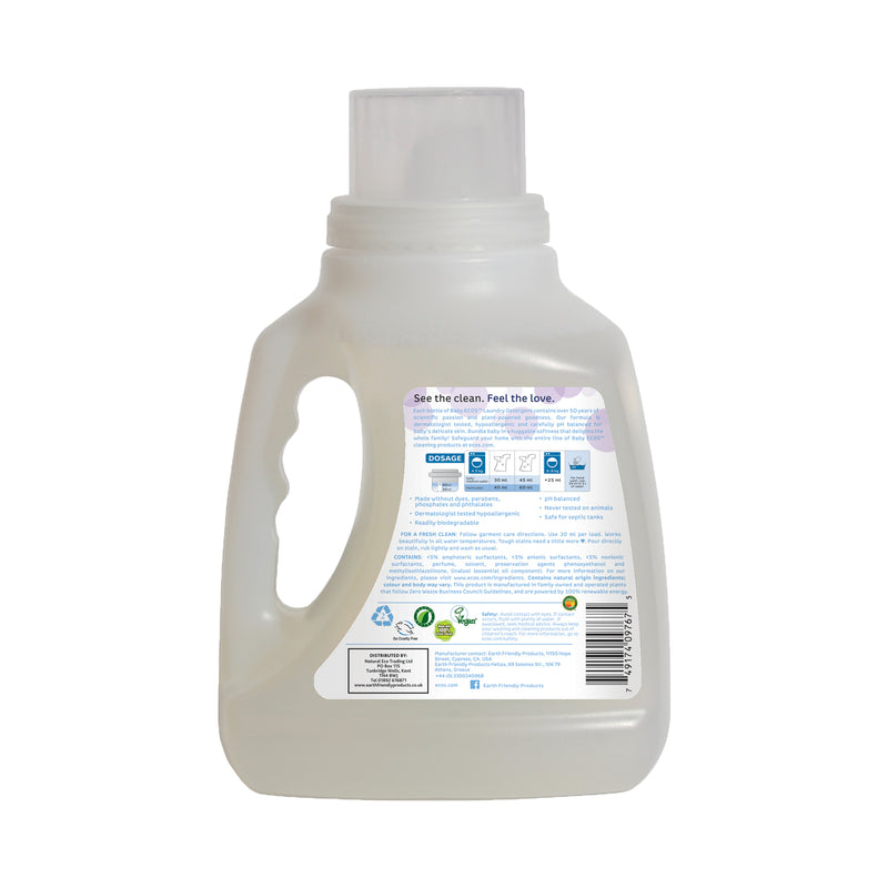 Earth Friendly Products ECOS Baby Laundry Liquid Lavender back
