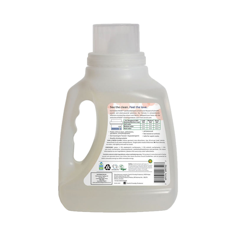 Earth Friendly Products ECOS Laundry Detergent 1.5 Litre Magnolia & Lily back