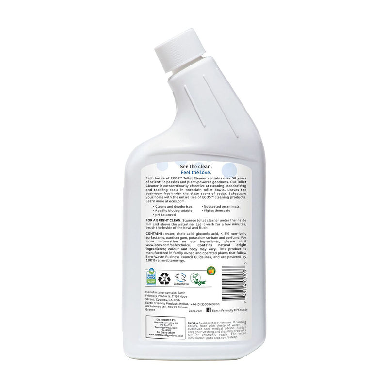 Earth Friendly Products ECOS Toilet Cleaner back