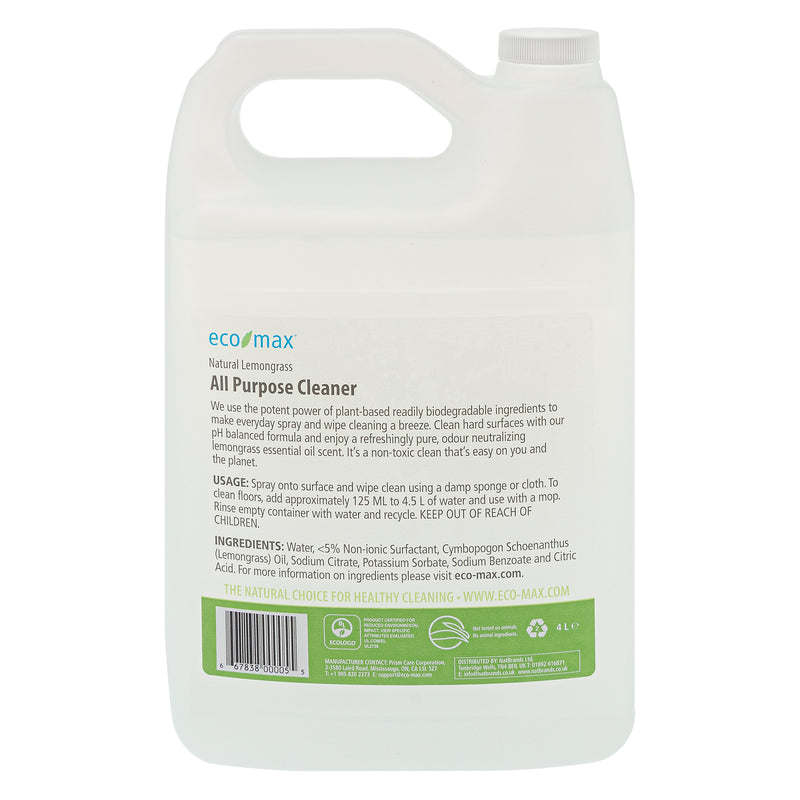 All Purpose Cleaner - Natural Lemongrass 4L
