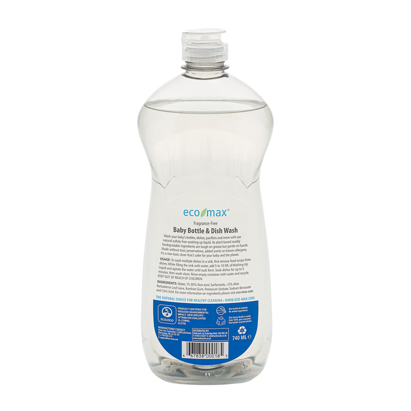 Baby Bottle & Dish Wash - Fragrance-Free 740ml