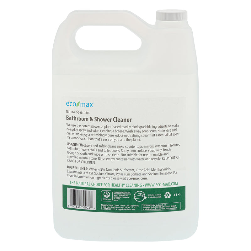 Bathroom & Shower Cleaner - Natural Spearmint 4L