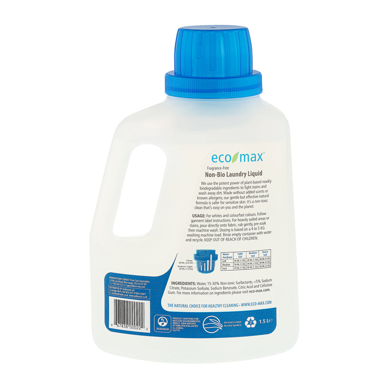 Non-Bio Laundry Liquid - Fragrance-Free (50 washes) 1.5L
