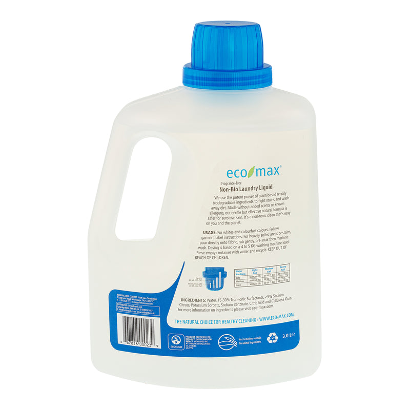 Non-Bio Laundry Liquid - Fragrance-Free (100 washes) 3L