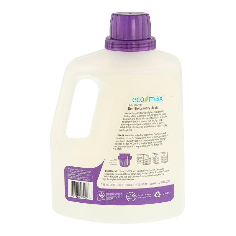 Non-Bio Laundry Liquid - Natural Lavender (100 washes) 3L