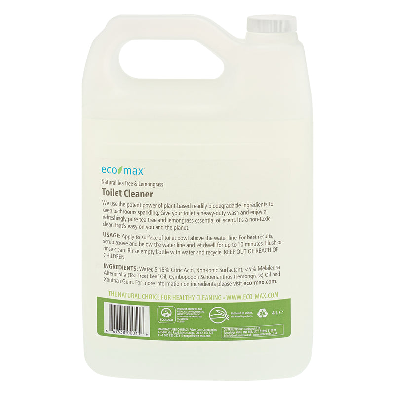 Toilet Cleaner - Natural Tea Tree & Lemongrass 4L