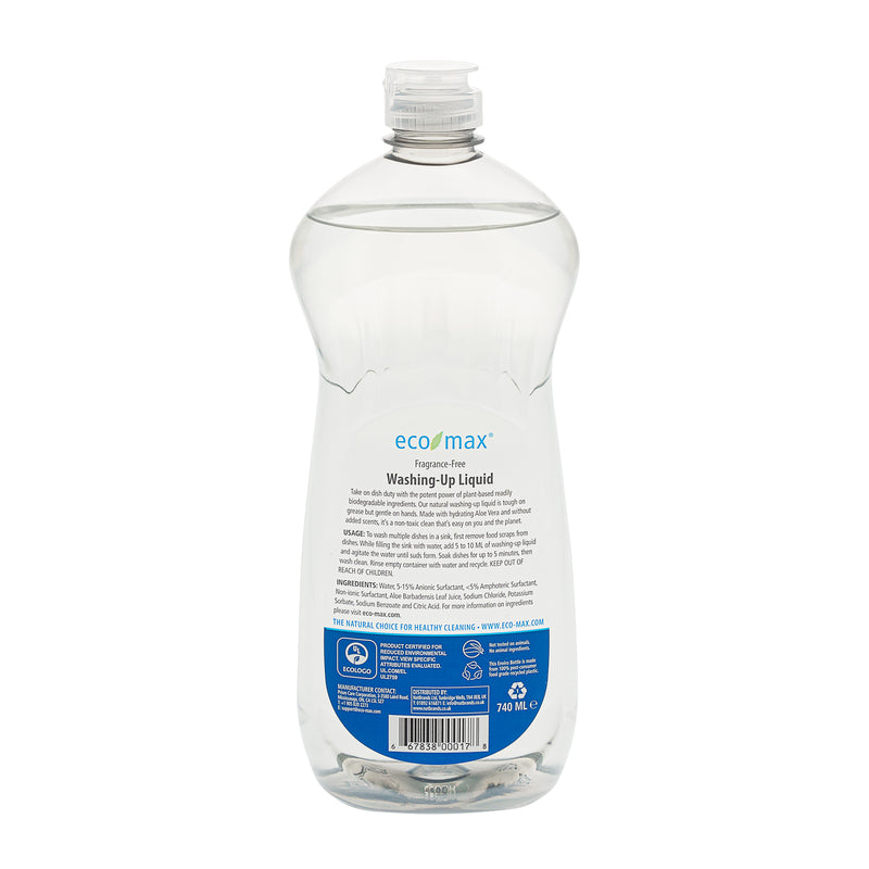 Washing-Up Liquid - Fragrance-Free 740ml