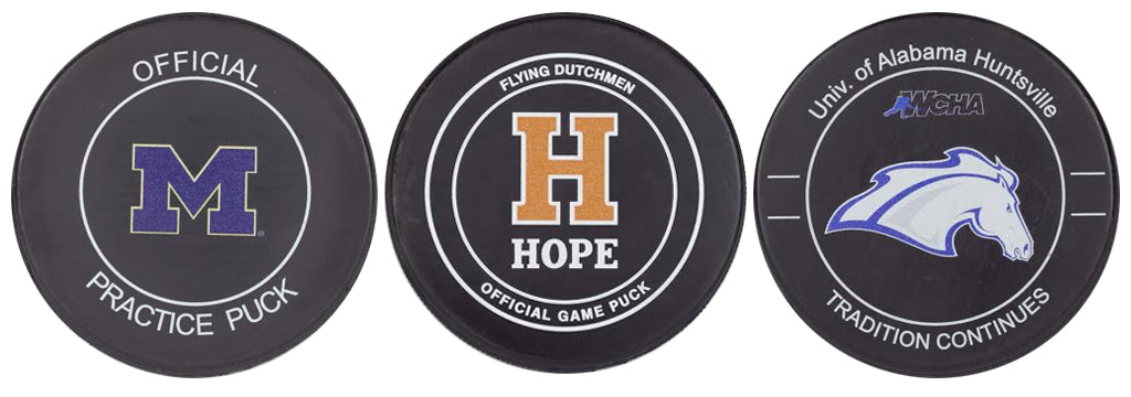 Custom Printed Logo Hockey Pucks NCAA College Team Pucks