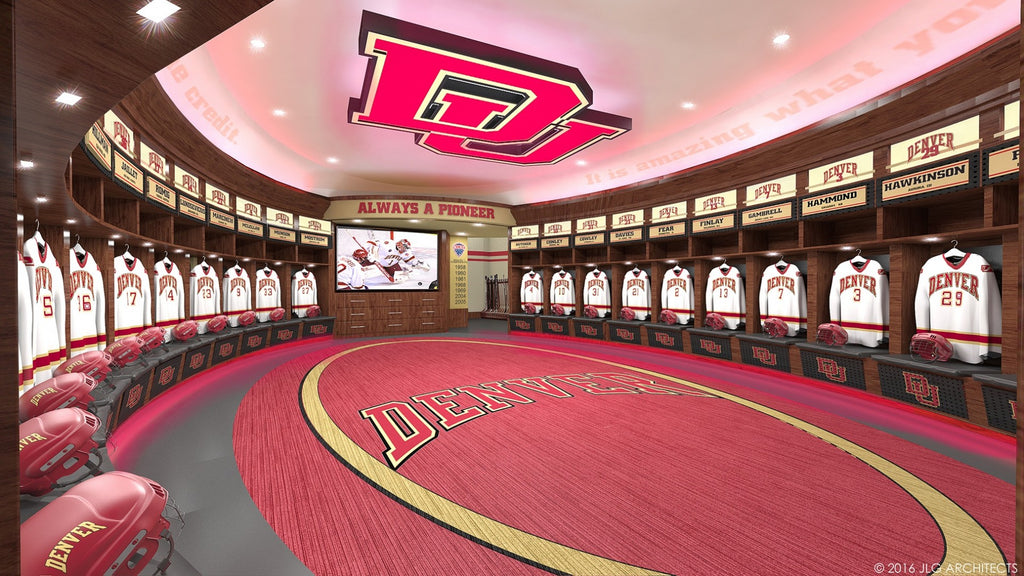 university of denver pioneers nchc hockey college hockey locker room top ten top 10 list of all locker rooms