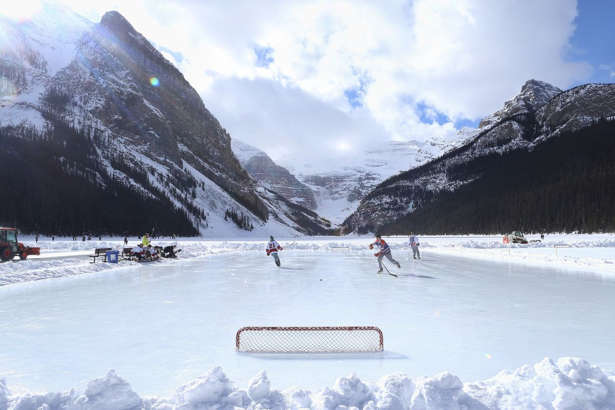 lake louise banff alberta list best top ten top five list outdoor rink best places to skate outside pond hockey best odr hockey outdoor hockey rinks skating ice skating hockey