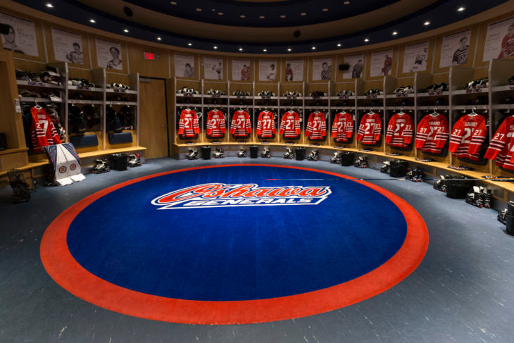 oshawa generals locker room ontario hockey league ohl