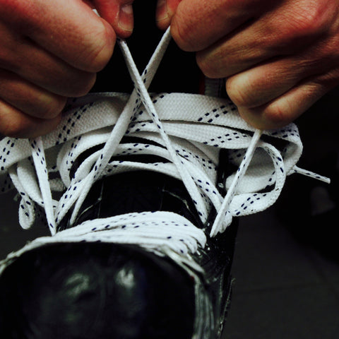 Howies White Cloth Hockey Skate Laces