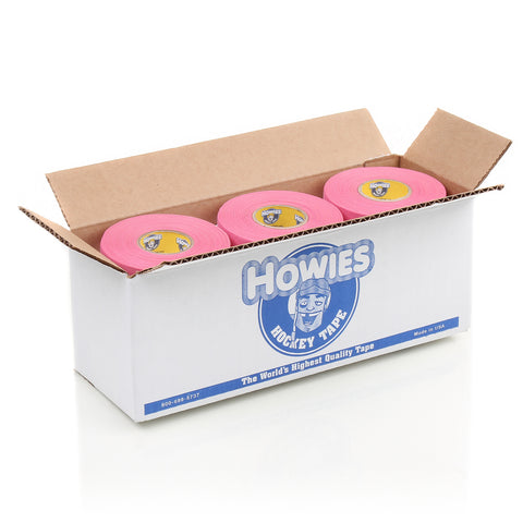 Howies Pink Cloth Hockey Tape - Bulk 12pk - Howies Hockey Tape