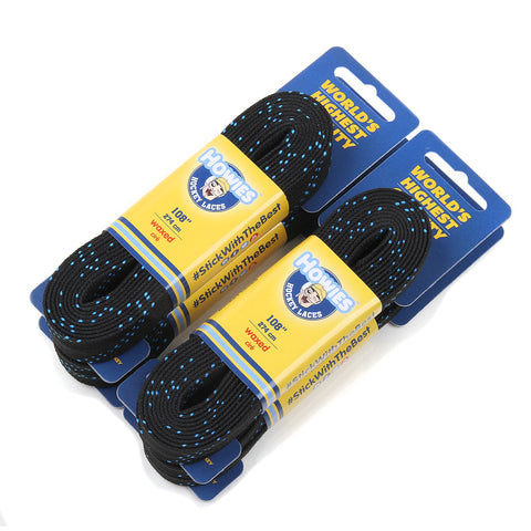 "Howies Black Waxed Hockey Skate Laces - 4pk  72"" 84"" 96"" 108"" 120"" - Howies Hockey Tape"