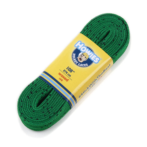 "Howies Green Waxed Hockey Skate Laces - 1pk 72"" 84"" 96"" 108"" 120"" 130"" - Howies Hockey Tape"