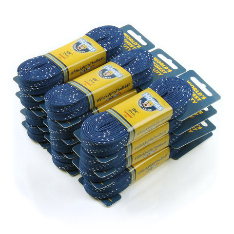 "Howies Royal Blue Waxed Hockey Skate Laces - Bulk 12pk 72"" 84"" 96"" 108"" 120"" - Howies Hockey Tape"