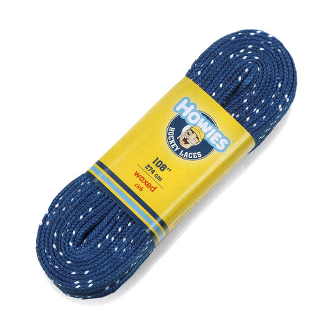 "Howies Royal Blue Waxed Hockey Skate Laces - 1pk 72"" 84"" 96"" 108"" 120"" - Howies Hockey Tape"