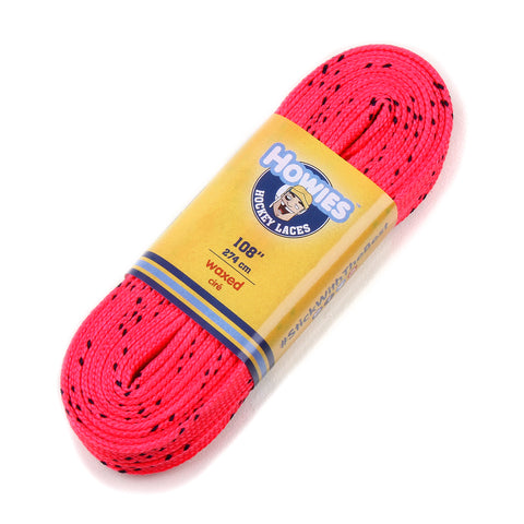 "Howies Hot Pink Waxed Hockey Skate Laces - Single 72"" 84"" 96"" 108"" 120"" 130"" - Howies Hockey Tape"