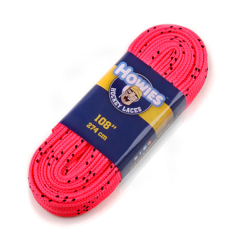 "Howies Hot Pink Cloth Hockey Skate Laces - 1pk 72"" 84"" 96"" 108"" 120"" 130"" - Howies Hockey Tape"