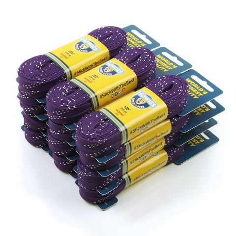 "Howies Purple Waxed Hockey Skate Laces - 12pk 72"" 84"" 96"" 108"" 120"" - Howies Hockey Tape"