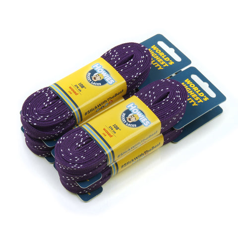"Howies Purple Waxed Hockey Skate Laces - 4pk 72"" 84"" 96"" 108"" 120"" - Howies Hockey Tape"