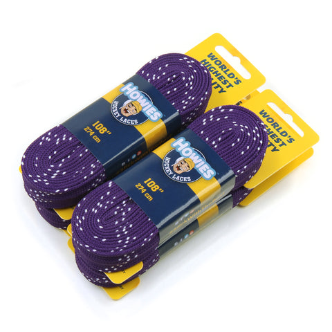 "Howies Purple Cloth Hockey Skate Laces - 4pk 72"" 84"" 96"" 108"" 120"" - Howies Hockey Tape"