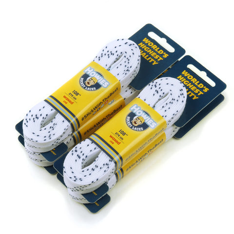 Howies Hockey Skate Laces Waxed White 4-Pack