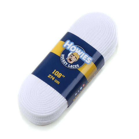 "Howies White Referee Cloth Hockey Skate Laces - 1pk 84"" 96"" 108"" 120"" 130"" - Howies Hockey Tape"