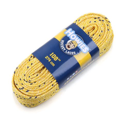 "Howies Yellow Cloth Hockey Skate Laces - 1pk 72"" 84"" 96"" 108"" 120"" - Howies Hockey Tape"