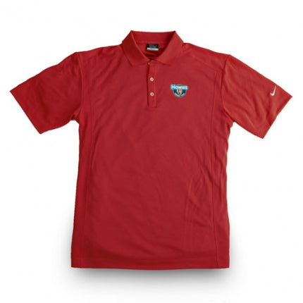 Howies Dri-Fit Golf Polo - Red / Medium - Howies Hockey Tape