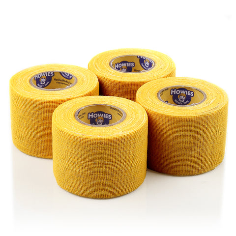 Howies Yellow Pro Grip Hockey Tape - 4pk - Howies Hockey Tape