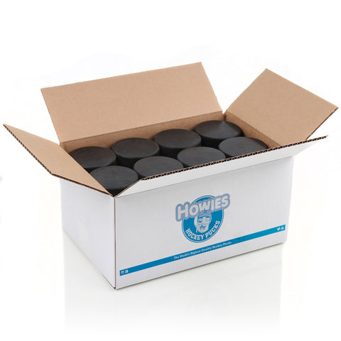 Howies Hockey Official Blank Bulk Hockey Pucks- Howies Hockey Tape