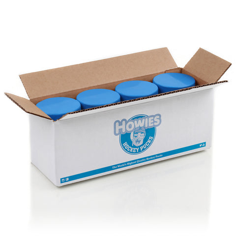 Howies Hockey Official 4 oz Youth Blank Bulk Hockey Pucks- Howies Hockey Tape