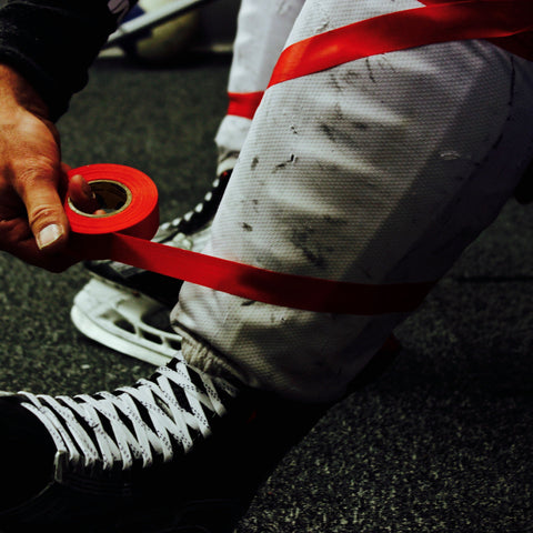 Howies Red Shin Pad Hockey Tape