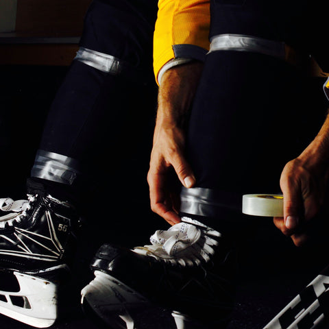 Howies Hockey Tape - 15 Black Cloth & 15 Clear Shin Pad