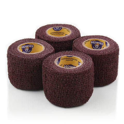 Howies Maroon Stretchy Grip Hockey Tape - 4pk - Howies Hockey Tape