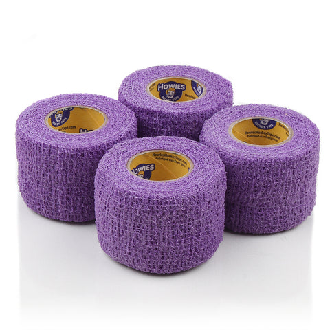 Howies Purple Stretchy Grip Hockey Tape - 4pk - Howies Hockey Tape