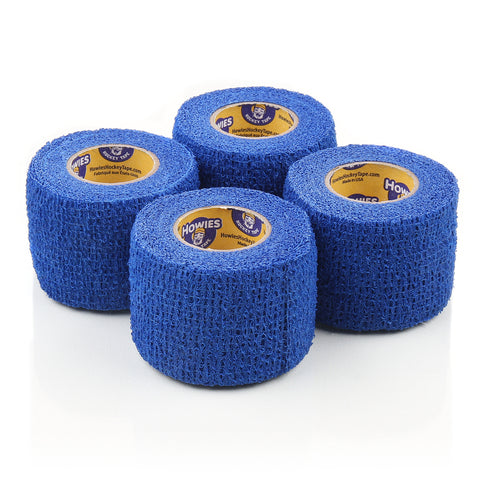 Howies Blue Stretchy Grip Hockey Tape - 4pk - Howies Hockey Tape