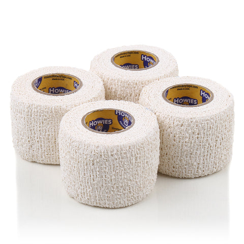 Howies White Stretchy Grip Hockey Tape - 4pk - Howies Hockey Tape